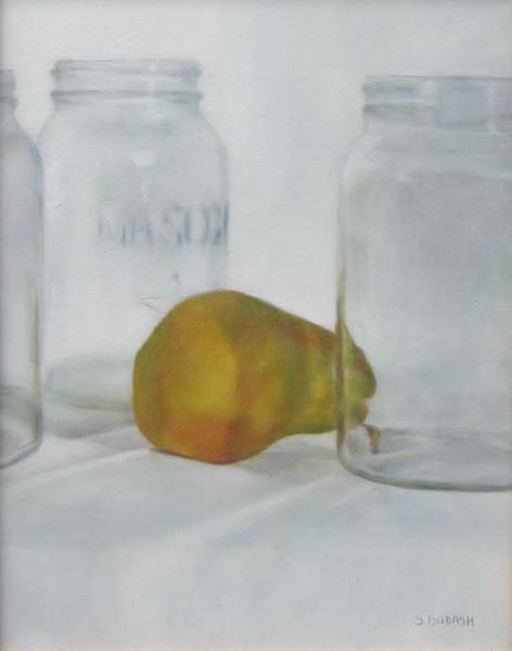 Pear in a Jam (18x14 oil on canvas)