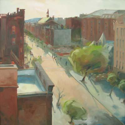 Newbury Street (24x24 oil on canvas)