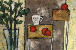 Apples (24x36 oil on paper)