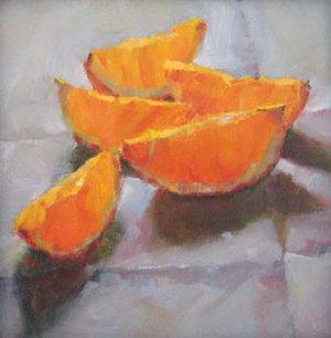 Oranges (6x6 oil on panel)