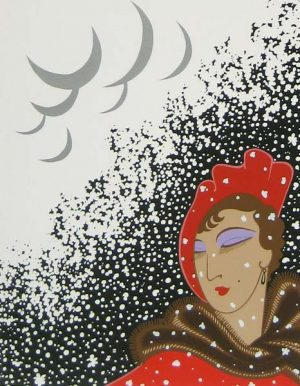 Erte - Winter (18x14 serigraph on paper)