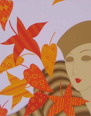 Erte - Autumn (17x14 serigraph on paper)