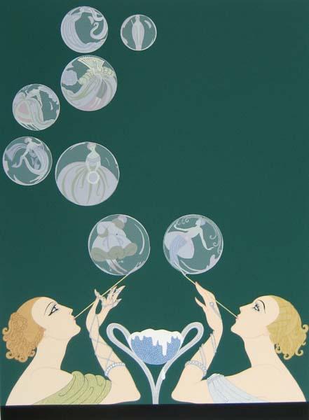 Erte - Bubbles (30x24 serigraph on paper)