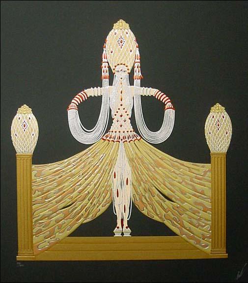 Erte - Enchantress (39x29 serigraph on paper)
