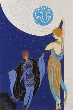 Erte - Nocturne (35x25 serigraph on paper)