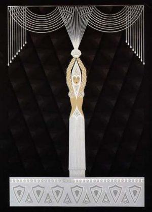 Erte - Pearls & Diamonds serigraph on paper