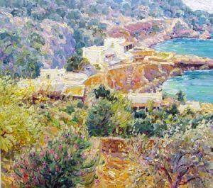 Along the Greek Coast (26x29 oil on canvas)