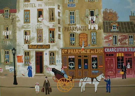 Michel Delacroix - Souvenirs de Paris #3 (10x14 etching on paper)