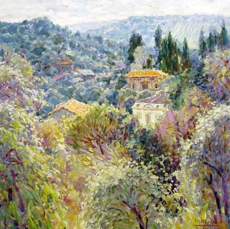 Hidden Villas (32x32 oil on canvas)