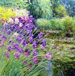 Iris Dance (40x40 oil on canvas)