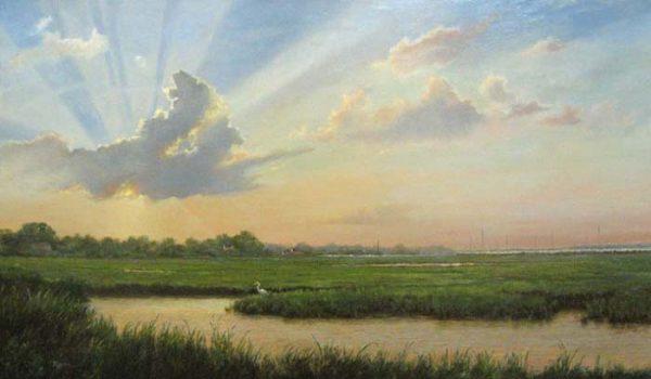 Edge of Marsh - Sunrise (oil/canvas 20x36)