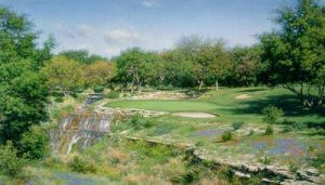 Larry Dyke - Barton Creek (20x30 lithograph on paper) print of golf course