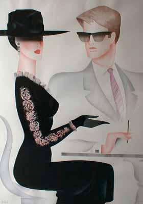 Eric Freyman Vision de Reve (34x25 watercolor/gouache)