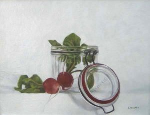 Mason's Radishes (14x18 oil on board)
