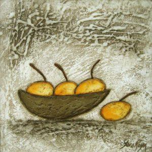 Sara Rosen Bowl of Oranges 16x16