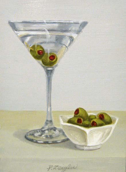 Martini I (7x5 oil on board)