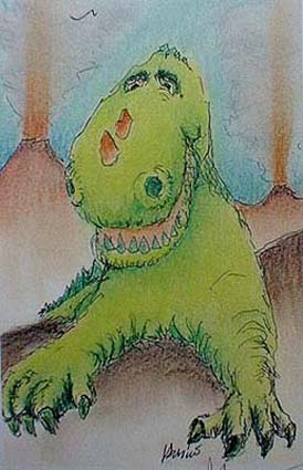 Jerry Garcia - Reluctant Dragon lithograph artwork