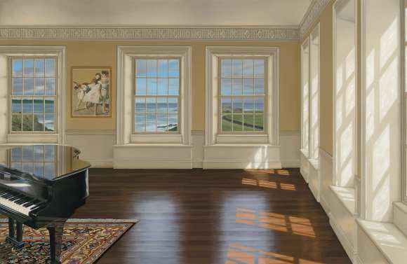 Edward Gordon - Music Room III (giclee on canvas or paper)