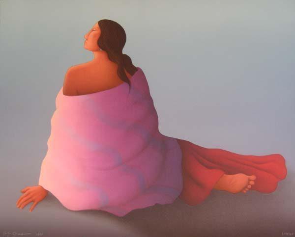 R.C. Gorman - Modesta (30x38 lithograph on paper)