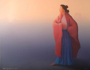 R.C. Gorman - Sunrise (30x39 lithograph on paper)