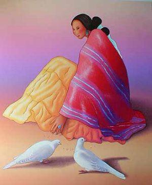 R.C. Gorman - Maria Paloma (30x26 lithograph on paper)