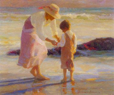 Don Hatfield - Mother and Son (20x33 serigraph on paper)