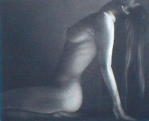 Chevelure (mezzotint on paper)