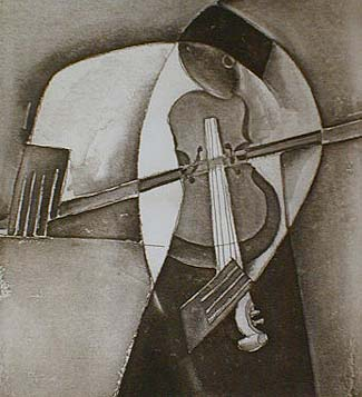 Joseph Holston - In Concert (8x10 etching on paper)