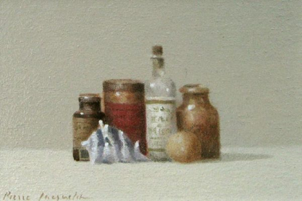 Still Life with Conch (5x7.5 oil on board)