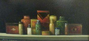 Tins (8x16 oil on canvas)