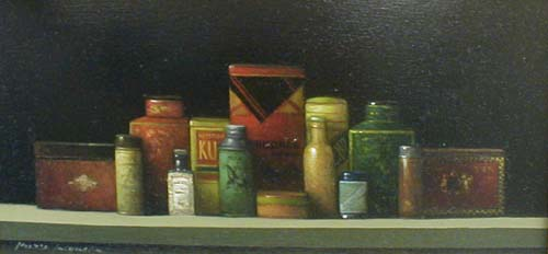 Tins (8x16 oil on canvas)