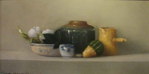 Still Life with Gourd (6x12 pastel)