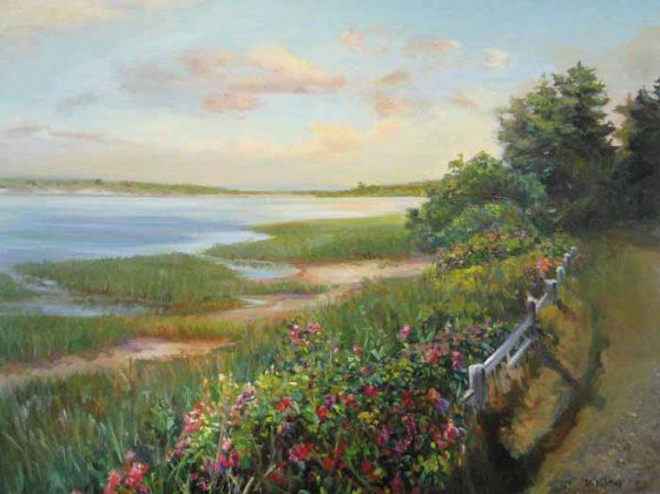 Celia Judge - Blue Inlet cape cod (30x40 oil painting on canvas)