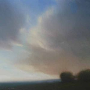Will Klemm - Dusk 8x8 contemporary pastel landscape painting
