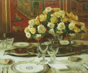 Still Life with Yellow Roses (20x24 oil on canvas)