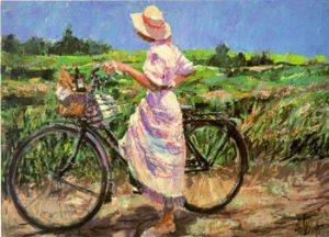 Aldo Luongo - Country Bike Ride (32x42 serigraph)