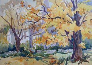 Yellow Oak (watercolor)