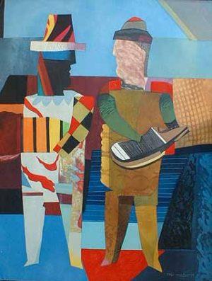 Deux Musiciens (50x39 aquatint)