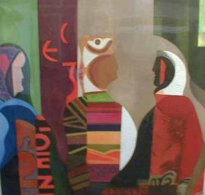 Max Papart - Les Femmes d'Alger (38x40 aquatint)