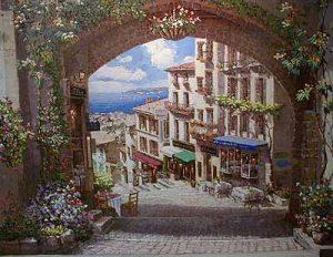 Sam Park - Arch en Cannes (38x52 serigraph on canvas)