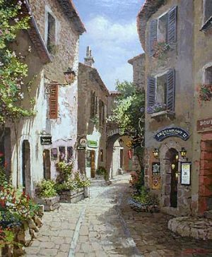 Sam Park - Morning In Provence (serigraph on canvas)