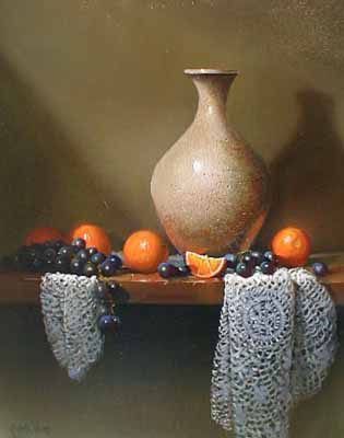 Oranges and Lace (20x16 oil on canvas)