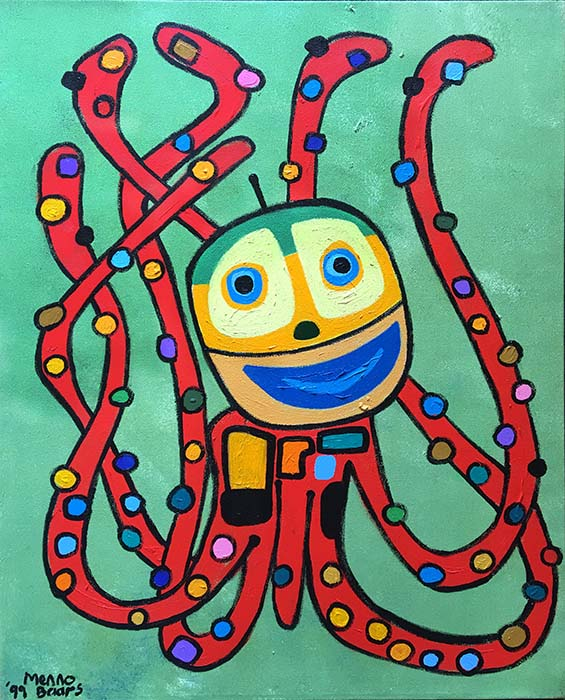Menno Baars Octopus (42x30 oil on canvas)