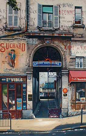Thomas Pradzynski - Passage du Cherche Midi (35x51 serigraph on paper)