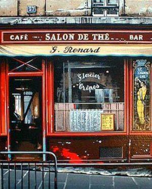 Thomas Pradzynski - Salon de The (17x15 serigraph on paper)