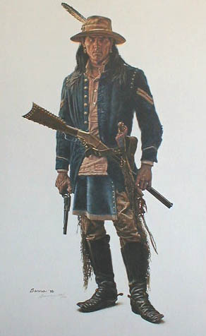 James Bama - Crow Calvary Scout (21x14 lithograph on paper)