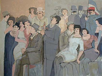 David Schneuer - Celebration (29x41 serigraph on paper)