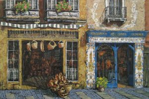 Victor Shvaiko - Calle del Sol (14x21 giclee on canvas)