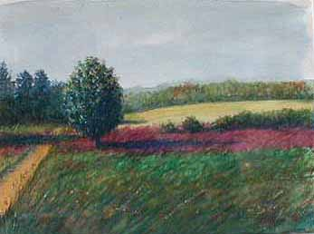 Painting of 9 Acre Corner in Concord Massachusetts
