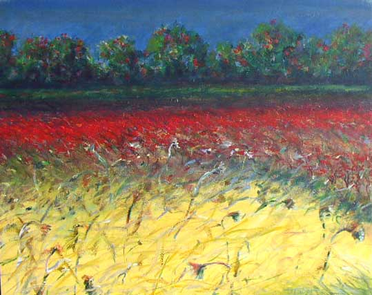 Robert Frost Estate Field (24x30 oil on canvas)